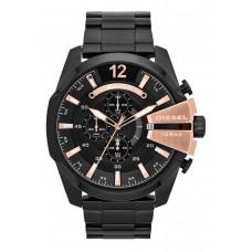 Diesel Mega Chief Men's Black Dial Stainless Steel Band Watch - DZ4309