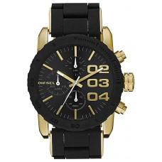 Diesel Women's Black Dial Silicone Band Chronograph Watch - DZ5322