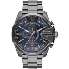 Diesel Chief Series Men's Blue Dial Stainless Steel Band Watch - DZ4329