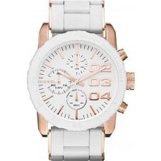 Diesel Women's White Dial Silicone Band Chronograph Watch - DZ5323