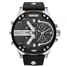 Diesel Mr. Daddy Men's Black Dial Leather Band Watch - DZ7313