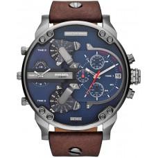 Diesel Mr. Daddy 2.0 Men's Blue Dial Leather Band Watch - DZ7314