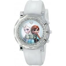Disney Kids' FZN3579 Frozen Anna and Elsa Digital Display Analog Quartz White Watch