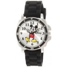 """Disney Kids' MK1080 Mickey Mouse Black Rubber Strap Watch"