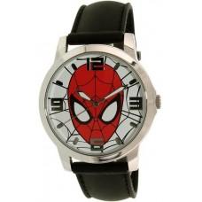 Disney Ultimate Spider-Man SPMAQ579 Black Leather Analog Quartz Watch for Men