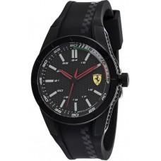 Ferrari Scuderia RedRev Men's Black Dial Silicone Band Watch - 830301