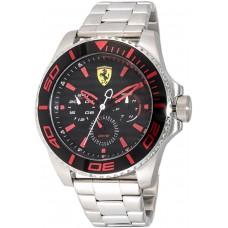 Ferrari Men's Black Dial Silicone Band Watch - 830311