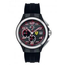 Ferrari Scuderia Lap Time For Men Black Dial Silicone Band Chronograph Watch - 830015