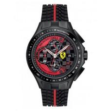 Ferrari Scuderia Race Day For Men Black Dial Silicone Band Chronograph Watch - 830077