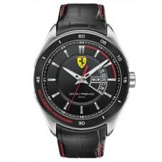 Ferrari Scuderia Gran Premio For Men Black Dial Leather Band Watch - 830183