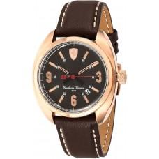 Ferrari Men's Black Dial Leather Band Watch - 83028