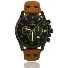 Fitron FT8270BBR Mens Watch Colour Bronwn Black Genuine Leather Dial Colour Black