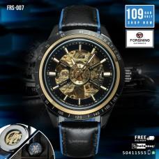 FRS 007 Forsining 2017 Sport Racing Design Transparent Waterproof Skeleton Automatic Wrist Men's Watches