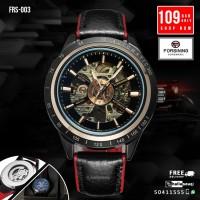 FRS 003 Forsining 2017 Sport Racing Design Transparent Waterproof Skeleton Automatic Wrist Men's Watches