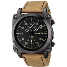 Geneva Men's 1667C-GEN Digital Display Quartz Brown Watch