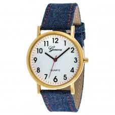 Geneva Platinum Men's White Dial Fabric Band Watch - UMB-3306-WHITE
