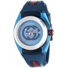 Gucci Sync Unisex Light Blue Dial Silicone Band Watch - L YA137304