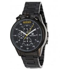 Megir Men's Black Dial Stainless Steel Band Chronograph Watch - 3005-B