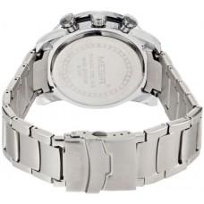 Megir Men's White Dial Stainless Steel Band Chronograph Watch - AC3008