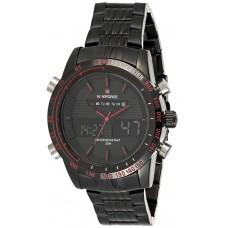 Naviforce Men's Black Ana-Digi Dial Metal Band Watch - NF9024
