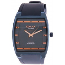 Omax Men's Blue Dial Silicon Band Watch, 1000000947625