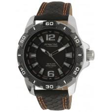 Q&Q for Men - Analog DA64J502Y Leather Watch