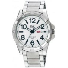 Q&Q Metal Watch with Date for Men [A150J204Y]Q&Q Black Analog Watch for Women [DB19J502Y]