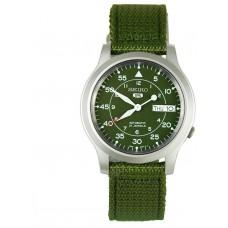 Seiko 5 Military Men's Green Dial Nylon Band Automatic Watch - SNK805K2