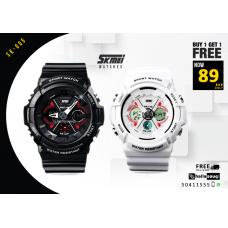 SKMEI SK 005 Handcuffs Analogue-Digital LED Sports Watch buy 1 get 1 @89 QAR