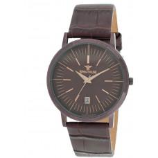 Spectrum Men's Brown Case Brown Dial Casual Watch - S12540M-BrBrBr