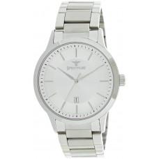 Spectrum Men's Silver Case White Dial Casual Watch - S25116M-SWS
