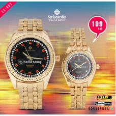 SC 002 Swiscardin Pair Watch  @109 QAR