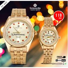 SC 003 Swiscardin Pair Watch @ 109 QAR