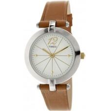 Timex Greenwich T2P543 Brown Leather Quartz Watch for Women